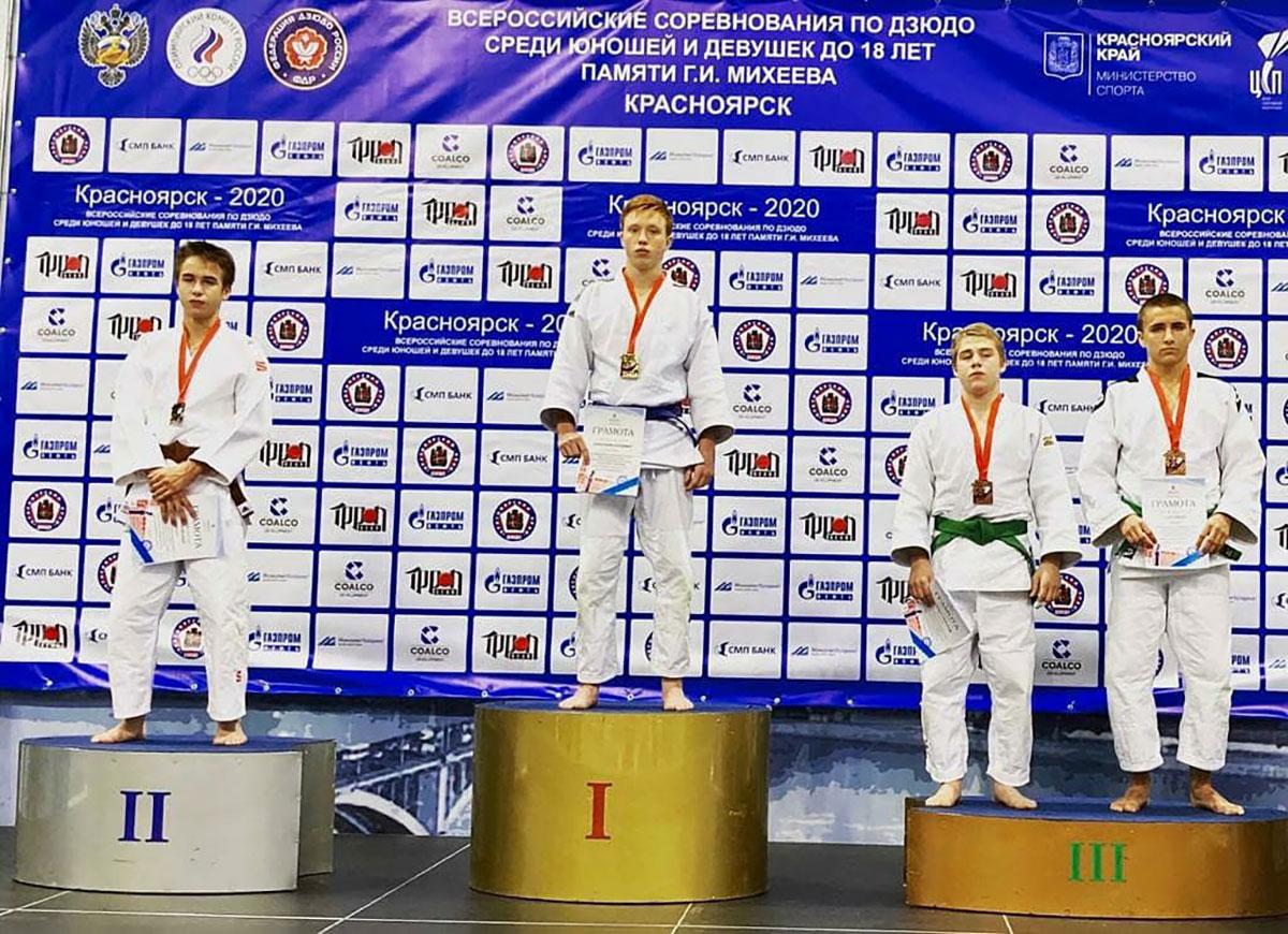 У севастопольских дзюдоистов три медали на Всероссийских соревнованиях в Красноярске