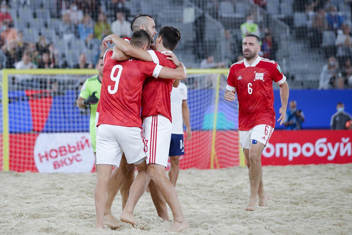 Сборная России по пляжному футболу одержала первую победу на чемпионате мира — 2021